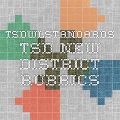 TSD new district rubrics, World Language, Colorado, 2014