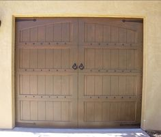 """""""Bling"""" makes the door. We can't imagine it without the decorative hardware. Installation by Castle Improvements, San Diego, CA."""