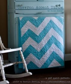 Download Chevron Accent Throw - PDF Quilt Pattern Sewing Pattern | Featured Downloadable Sewing Patterns | YouCanMakeThis.com
