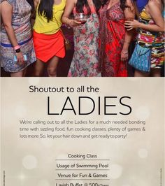 Shoutout to All The Ladies @ Country Inn and Suites By Carlson - http://explo.in/29I8atx #Bangalore #Nightlife