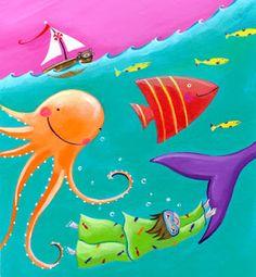 Dibujos fondo mar para imprimir   Imagenes para imprimir.Dibujos para imprimir