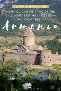 Are you looking for a cheap, easy way to get to Tatev Monastery Armenia from Yerevan? Here's how you can visit the famous monastery, ride the Wings of Tatev and see other highlights of Central Armenia – all for under 40 USD per person. Best of all, you'll be back in Yerevan in time for a late dinner! #Armenia #Yerevan #Tatev #monastery #Noravank #daytrip