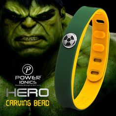 Power Hero Series Hulk Sports Waterproof Titanium Healthy Bracelet Wristband New #SmartBraceletChina