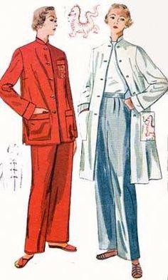 Vintage 1950 s Pajamas Pattern Advance 2739  3ec6cc984