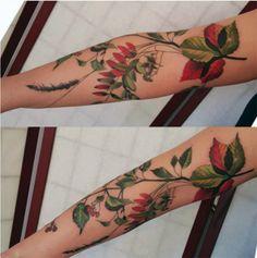 Tatuagem botânica - flores secas - Dorothy Lyczek
