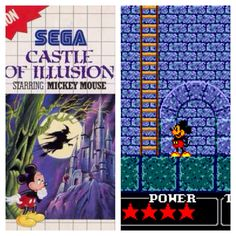 Sega Master System Mickey Mouse Castle of Illusion. Only game I've ever completed.