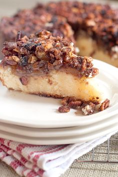 Apple Pecan Coffee Cake, 9 inch round or square pan, ingredients in part are self-rising flour, sour cream, pecans