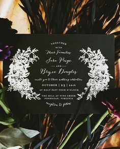 😍💕 My on Repost ・・・ Moody invites set the tone for Sara & Bryce's last month ✨ Black And White Wedding Invitations, Silver Wedding Invitations, Wedding Stationery Inspiration, Wedding Inspiration, Different Wedding Ideas, Glamorous Wedding, Save The Date Cards, Real Weddings, Wedding Day
