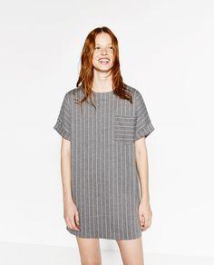 PINSTRIPE DRESS-DRESSES-WOMAN | ZARA Switzerland