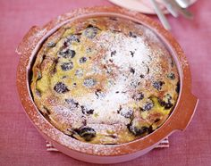 Cherry Clafoutis by Jamie Oliver Pudding Desserts, Dessert Recipes, Fruit Dessert, Dessert Bread, Pear And Almond Cake, Clafoutis Recipes, Far Breton, Cherry Clafoutis, Classic French Dishes