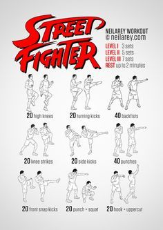 TONS of anime, super hero, and video game inspired workouts!