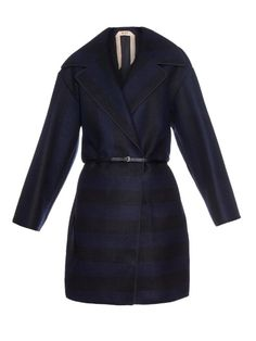No. 21 Striped wool-blend coat