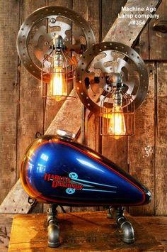 Harley Davidson Parts Inside Liquor Bottle