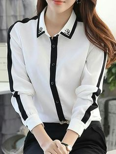 Stylish Work Outfits, Classy Outfits, Blouse Styles, Blouse Designs, Girls Fashion Clothes, Fashion Dresses, Formal Tops, Workwear Fashion, Mode Hijab