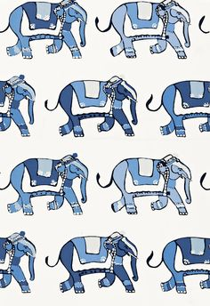 Chinoiserie & Elephants & Blue and White
