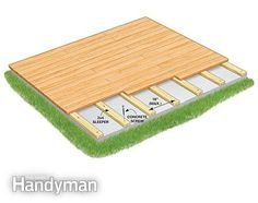A deck built over a concrete patio can be much simpler and cheaper than our design.