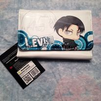 Attack on Titan wallet, perfect for anything that goes in a wallet. It even has Levi on it, what more can you ask for?