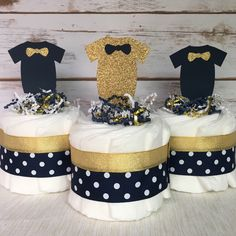 Excited to share this item from my shop: Little Man Baby Diaper Cakes in Gold and Navy, SET OF Navy Baby Showers, Boy Baby Shower Themes, Baby Boy Shower, Baby Shower Gifts, Baby Gifts, Little Man Centerpieces, Baby Shower Centerpieces, Baby Shower Decorations, Mini Diaper Cakes