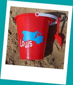 personalized sand bucket vehicle decal DIY vinyl by Crafterpillar, $3.50