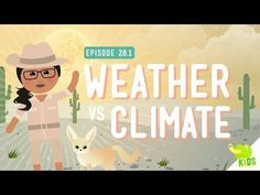 Free Technology for Teachers: Weather vs. Climate – A Crash Course for Kids Free Technology for Teachers: Weather vs. Climate – A Crash Course for Kids Third Grade Science, Elementary Science, Middle School Science, Science Classroom, Teaching Science, Social Science, Physical Science, Mad Science, Classroom Projects