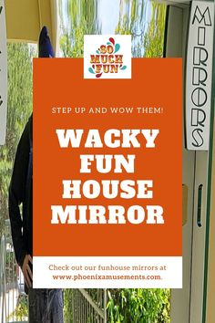 Step up and WOW Them - Wacky Fun House Mirror Rental. Instead of the usual two mirrors – one concave, one convex – we offer a third flat mirror that renders your guests super thin in a novel, unusual way. You can use these carnival mirrors in their more traditional festival, street fair, and haunted house settings, and you can also try them at outdoor events such as company picnics & crowded, hectic spaces such as tradeshow booths. #carnivalfun #funhousemirror #wackymirror #distortedmirror Health Desserts, Baking Desserts, Summer Parties, Tea Parties, Diy Projects For Beginners, Diy Chicken Coop, Fun House, Next Wedding, Company Picnic
