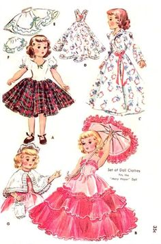 """Vintage 14in Mary Hoyer Doll Clothing Pattern 1891. $6.99, via Etsy. - i think this patter could fit 14"""" Betsy McCall"""
