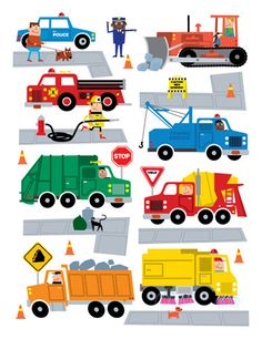Trucks, Cars  Road Signs by Ed Miller Design, via Behance