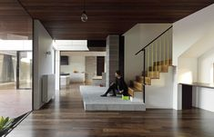 The Peppercorn House by MODO Architecture is a modern design which plays an active role in everyday life, rather than it being a static shell. Located in Aberfeldie, the aim was to develop a design which engages with the rituals and the growth of this young family to create plenty of open spaces and natural light.