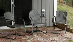How To Paint Old And Rusty Metal Outdoor Chairs