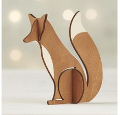 Laser-Cut Fox wood figure - great for a shelf