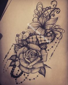 lace flowers tattoo design #TattooDesignsArm
