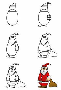 How to Draw Cartoon Santa