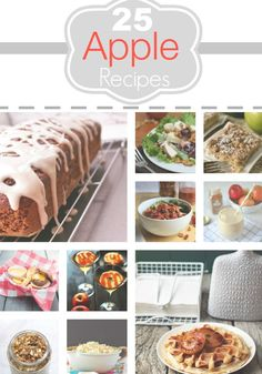 Apple Recipes, Easy Apple Recipes, Delicious Apple Recipes Easy and delicious apple recipes to make this fall! You'll love all of these amazing ideas! Apple Recipes Easy, Fruit Recipes, Fall Recipes, Easy Dinner Recipes, Sweet Recipes, Dessert Recipes, Cooking Recipes, Recipies, Yummy Recipes