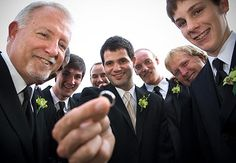 groomsmen! i just love how the focus is on the RING!