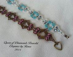 Queen of Diamonds Bracelet  Tutorial  PDF by ElegancebyRenee