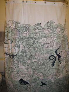 modcloth nautical shower curtain