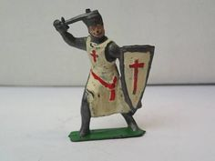 Vintage Cherilea Lead Metal Crusader Toy Soldier! No Reserve!
