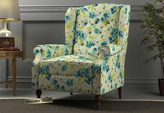 Botox Wingback Chair (Teal Tulip) Wingback Chair, Armchair, Wing Chair, Tulip, Accent Chairs, Wings, Teal, India, Modern