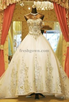 designer Bridal dresses 2014 collection , Luxury Ball Gown Sweetheart Cathedral Train Organza with Embroidery Wedding Dress WBG08727-C, #weddingdress, #weddinggown, #bridaldress, #bridalgown, #wedding, #bridal, #ballgown, #cathedraltrain, #vintage, #princess