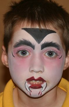 face painting for halloween   ... basic set up as our face painting page but with halloween themed faces