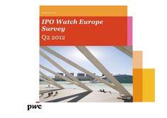Etude IPO Watch Europe - deuxième trimestre 2012.