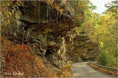 ......driving the road beneath the rocks in Hacker Valley ~ Webster County, West Virginia.
