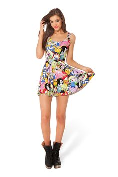 Adventure Time Bro Ball Reversible Skater Dress by Black Milk Clothing $95AUD