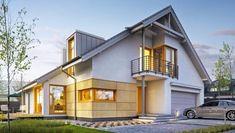 Doskonały 3 - DOMY Z WIZJĄ House Ideas, Mansions, House Styles, Simple, Home Decor, Decoration Home, Manor Houses, Room Decor, Villas