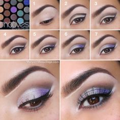 """""""Sparkling Lilac"""" Pictorial-Tutorial using all Motives Cosmetics from Maryam Maquillage. All Things Beauty, Beauty Make Up, Love Makeup, Makeup Tips, Makeup Tutorials, Beauty Tutorials, Pretty Makeup, Makeup Ideas, Eye Makeup Pictures"""