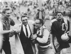 1959 - Hall of Fame Head Coach Vince Lombardi is congratulated by Packers fans after leading the team to a upset win over the Chicago Bears in his NFL head coaching debut and the home opener. A total of fans were in attendance. Packers Vs Bears, Go Packers, Nfl Green Bay, Green Bay Packers, Vince Lombardi, Chicago Bears, Green And Gold, Wisconsin