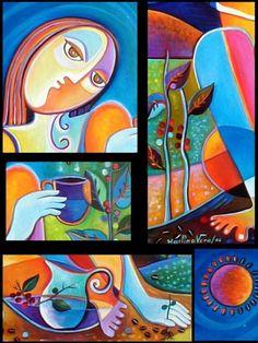 Hand embellished Giclee Print on canvas of my por MarlinaVera
