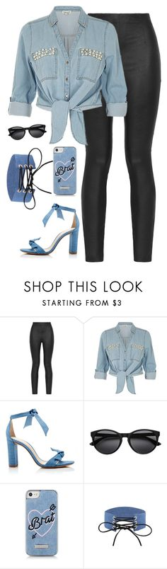 """""""Soccer makes me anxious 😩"""" by thekaylabella ❤ liked on Polyvore featuring Armani Jeans, ZAK, Alexandre Birman and Skinnydip"""