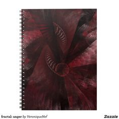 """""""Do not meddle in the affairs of wizards, for they are subtle and quick to anger.""""  #zazzle #fractal #digitalart #digital #digitaldesign #red #redcolor #redcolour #apophysis #mystore #notebook"""