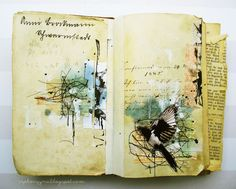 art journal page by czekoczyna